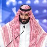 Den saudiarabiske kronprins under en nylig erhvervsmesse i Riyadh.