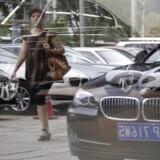 Den tyske bilindustri er følsom over for en opbremsning i den kinesiske økonomi. Foto: REUTERS/Jason Lee/Files/Reuters Scanpix