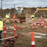 På en mark i Taulov ved Fredericia bygger Google nu et datacenter i Danmark. Det bliver det fjerde af slagsen, efter at Apple har sat to i gang og Facebook et. Foto: Peter Leth-Larsen, Ritzau Scanpix