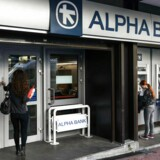 Alpha Banks aktie er faldet 39 pct. i år som del af en større flygt fra græske bankaktier. Foto: Theophile Bloudanis/AFP/Ritzau Scanpix