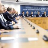 Medlemmer af Den Europæiske Menneskerettighedsdomstol Strasbourg.