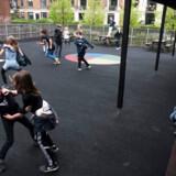 Arkivfoto. Leg i skolegården på Frederik Barfods skole. Fotografiet har ikke relation til vold mod skolebørn.