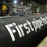 Rusland har været på omfattende charmetur i medierne og hos politikere omkring den omstridte gasledning i Østersøen, Nord Stream 2. Her et pressefoto af en del af den påtænkte rørføring.