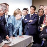 USAs præsident Trump var mildest talt ikke enig med resten af de deltagende verdensledere på G7 i Canada i juni 2018.