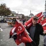 Væksten i den tyrkiske økonomi udviklede sig negativt i årets tredje kvartal.
