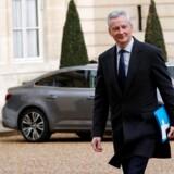 Den franske finansminister Bruno Le Maire tager fra 1. januar skat af IT-giganternes indtægter i Frankrig, så pengene ikke flyttes til lavere skat i andre EU-lande. Arkivfoto: Philippe Wojazer, Reuters/Scanpix