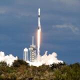 Elon Musk har rejst flere penge til lanceringen af et verdensomspændende net af satellitter, der skal levere internetforbindelser til Jorden. De skal op med hans selskab SpaceXs raketter – her en Falcon 9-raket, der blev skudt op i november fra Cape Canaveral i Florida, USA. Arkivfoto: Joe Skipper, Reuters/Scanpix