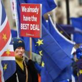 Britiske EU-tilhængere kæmper indædt for at få omgjort Brexit-beslutningen med kravet om en ny folkeafstemning. I Danmark er opbakningen til at kopiere briterne med et dansk Brexit faldet markant, mens de britiske problemer med at gennemføre bruddet med EU er vokset.