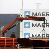 Maersk Terminal øst i Århus.