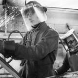 Tyrkiske gæstearbejdere på stålvalseværket i Frederiksværk i 1970'erne. Arkivfoto: Steen Jacobsen