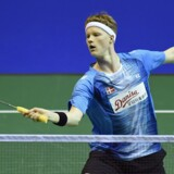 Anders Antonsen vandt torsdag sin anden kamp i Super Series-turneringen Hong Kong Open. Scanpix/Andy Buchanan