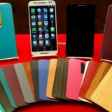 Lenovo håber, at gennembruddet snart kommer for Motorola-telephonerne, som den kinesiske PC-gigant ejer i dag. Her er det Moto-serien. Arkivfoto: Bobby Yip, Reuters/Scanpix