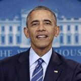 Præsident Obama ved sit årlige nytårspressemøde 16. december. Foto: Carlos Barria, Reuters