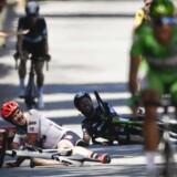Mark Cavendish trækker sig på grund af skade fra Tour de France / AFP PHOTO / Jeff PACHOUD