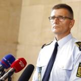 Politiinspektør Jørgen Skov holder pressemøde på Politigården i København onsdag 16. august 2017, hvor der blev informeret om nye tiltag efter den seneste tid skyderrier i København.