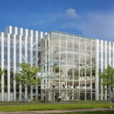 Holder tidsplanen, vil Genmabs forskningshovedkvarter stå færdigt om et lille års tid. Genmab, der forventer at flytte ind i slutningen af 2017, lejer sig derefter ind bygningen i Utrecht. Illustration: Dura Vermeer