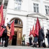 Overenskomstforhandlingerne i København, 23. april 2018.