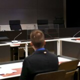 Retssalen i sagen om knivangreb i Finland, der efterforskes som terror i Turku i Finland.