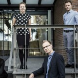 Talent 100-deltagere mødes hos Bech Bruun. Fra venstre mod højre: Tine Jørgensen, Camilla Søgaard Hudson, Dennis Nørgaard og Kristian Mads Arounsack-Jørgensen.