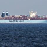 Marstal Mærsk , containerskib Maersk Line, fotograferet ud for Langeland