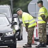 ARKIVFOTO: Grænsekontrol ved Kruså. Den 14. juni 2016.