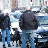 Loyal To Familia medlemmer stoppet i fire luksusbiler på Åboulevarden. En større politistyrke var mødt op, op mod 15-20 betjente. Politiet gennemsøgte bilerne med hunde og holdt ellers LTF medlemmerne væk fra deres biler.