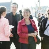 SF lavede fredag morgen et event med fokus på global opvarmning. Selve eventet foregik omkring busskuret ved busstoppestedet Børsen og ned mod Højbro Plads. Pia Olsen Dyhr, Margrete Auken og Teis Volstrup deltog.