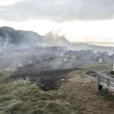Svinkløv Badehotel er natten til mandag brændt ned til grunden. Her ses brandtomten mandag morgen. (Foto: Henning Bagger/Scanpix 2016)