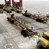 Arkivfoto. APM Terminals, A.P. Møller-Mærsks havneselskab, er muligvis på vej til at sælge sin andel på 43 pct. af den indiske havn Gujarat Pipavav.