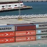ARKIVFOTO: Rederiet Maersk Line køber det tyske containerrederi Hamburg Süd, der er verdens syvendestørste og driver 130 containerskibe.