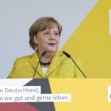 Angela Merkel i Zingst, Tyskland.