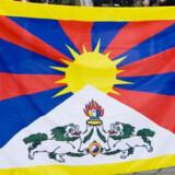 Demonstranter med dette flag skulle holdes usynlige for den kinesiske præsident Hu Jintao under et besøg i 2012. Det stod i politiets såkaldte operationsbefaling - men dukkede først op i september 2015 (arkivfoto). Free/Www.colourbox.com