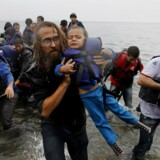 ARKIVFOTO. Migranter ankommer til Lesbos 23. september.