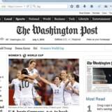 Hængelåsen i adresselinien signalerer - sammen med »https://« -, at Washington Post har krypteret forbindelsen mellem sine servere og læserne.