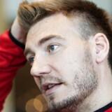 Nicklas Bendtner. Pressemøde og træning med landsholdet forud for kampen mod Montenegro. Tirsdag den 3. oktober 2017.