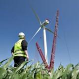 Siemens Wind Powers supervindmølle på testcentret i Høvsøre ved Lemvig.