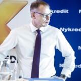Michael Rasmussen, koncernchef i Nykredit, har tidligere afvist, at de potentielt nye investorers dybe lommer skal bruges til bankopkøb. Analytiker peger alligevel på et opkøbsemne.