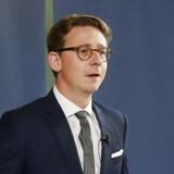 Skatteminister Karsten Lauritzen under fremlæggelsen af regeringens plan for boligbeskatning ved et pressemøde i Finansministeriet onsdag 5. oktober 2016.