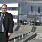 Direktør Christian Junker , Dansk Agro, fotograferet ved hovedsædet, administrationen i Galten ved Aarhus.