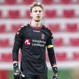 Frederik Rønnow (1), Brøndby IF, under træningskampen mellem Brøndby IF og Guangzhou Evergrande F.C på Rashid Stadium i Dubai mandag den 22. januar 2018.