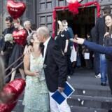 Trænger Københavns Kommunes vielsesritual til at blive støvet af? Ja, mener Jens-Kristian Lütken (V). Billedet er fra den 7. september 2013, hvor rekordmange par blev borgerligt viet og sagde »ja« til hinanden på Danmarks rådhuse.