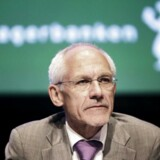 Bestyrelsesformand i Amagerbanken N. E. Nielsen. bagmanspolitiet har opgivet sagen mod 11 medlemmer af bankens ledelse, herunder N.E. Nielsen.