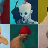 Den danske kunster Michael Kvium udstiller indtil den 17 februar sin billedsamling »Fools« på kunstmusset Aros i Aarhus. Udstillingen består af en samling på mere end 200 malede billeder der viser en samling forvrængede mennesker eller idioter der, ifølge kunstneren selv, er spejlbilleder af betragteren.Læs også Berlingskes interview med kunsteren Michael Kvium her.