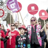 Arkivfoto: Demonstration foran Forligsinstitutionen i København, hvor overenskomstforhandlingerne fortsætter, mandag den 23. april 2018.. Foto: Mads Claus Rasmussen/Ritzau Scanpix.