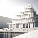 Den nye kirke i Københavns Sydhavn har endnu ikke fået et navn. Men den er tegnet af JAJA Architects.