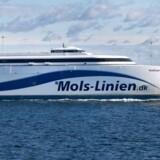 Færgen Express 1 fra Mols-Linien får snart følgeskab på Kattegat af en ny hurtigfærge. Free/Pressefoto, Mols-linien