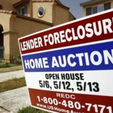 """A foreclosure sign in front of a home at 1456 Albillo Loop in Perris, California in this May 2, 2007 file photo. As the financial crisis begins to be felt on Main Street America, nearly one in six U.S. homeowners are finding themselves in """"under water"""" - - owed more on the mortgage than the house is worth - - a situation more and more Americans are finding themselves in, threatening the economy with a new wave of foreclosures and bankruptcies. To match feature FINANCIAL/USA-HOUSING REUTERS/Mark Avery/Files (UNITED STATES)"""