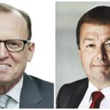 Af Flemming Besenbacher (tv.), næstformand i Innovationsfonden og Claus Jensen(th.), bestyrelsesmedlem i Innovationsfonden.