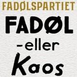 Fadølspartiets eget badge på billedet stammer fra deres »aktivist-kit«