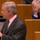 Nigel Farage i EU-parlamentet, screengrab